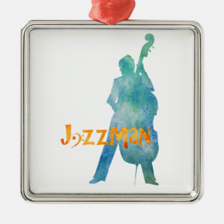 Bass Playing Jazzman Christmas Ornament