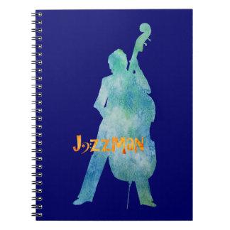 Bass Playing Jazzman Spiral Notebook