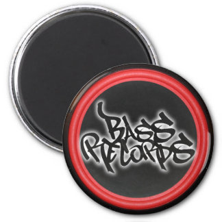 Bass Records Stickers 6 Cm Round Magnet