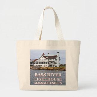 Bass River Lighthouse Massachusetts Jumbo Tote Bag
