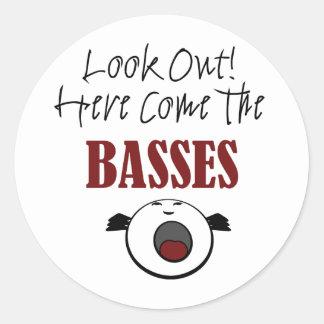 Bass Round Sticker