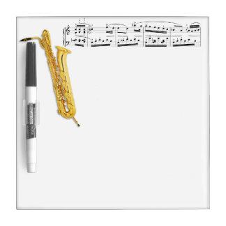 Bass Saxophone Dry Erase Board