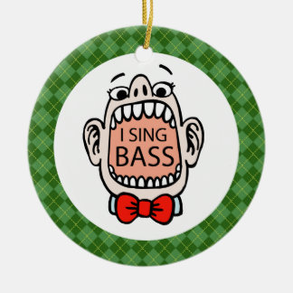 Bass Singer Christmas Music Ornament