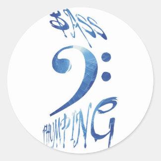 Bass Thumping Round Sticker