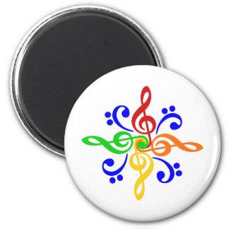 Bass Treble Clef Design Fridge Magnet