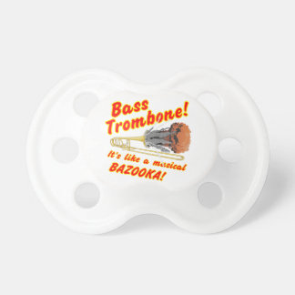Bass Trombone Musical Bazooka Baby Pacifier