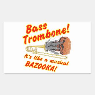 Bass Trombone Musical Bazooka Rectangular Sticker