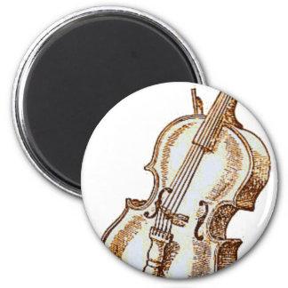 Bass Violin 6 Cm Round Magnet