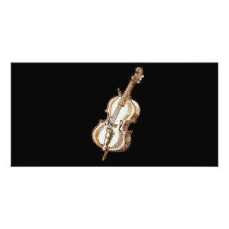 Bass Violin Custom Photo Card