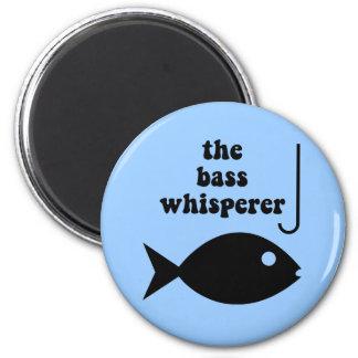 bass whisperer 6 cm round magnet