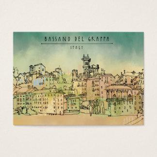 Bassano Del Grappa Italy Watercolor Business Card