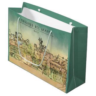 Bassano Del Grappa Italy Watercolor Large Gift Bag