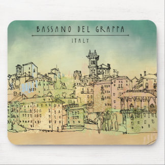 Bassano Del Grappa Italy Watercolor Mouse Mat