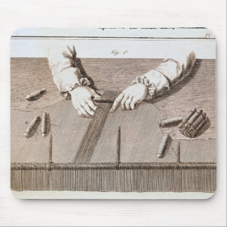 Basse-Lisse technique at the Gobelins tapestry Mouse Pad