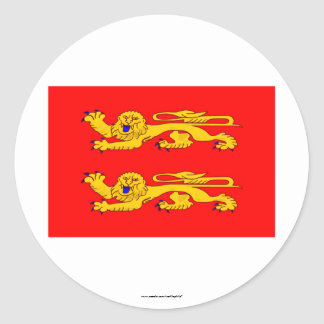 Basse-Normandie flag Classic Round Sticker