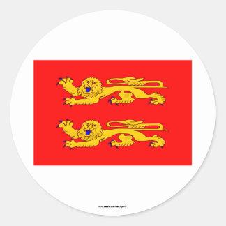 Basse-Normandie flag Round Sticker