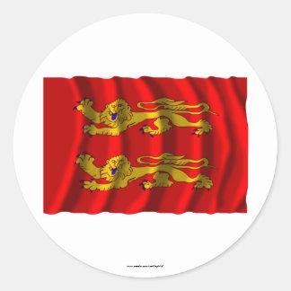 Basse-Normandie waving flag Sticker