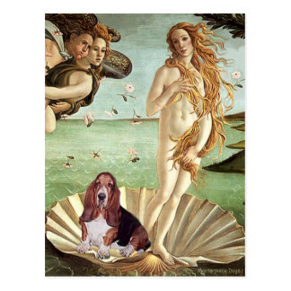 Basset 1 - Birth of Venus Postcard