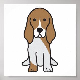 Basset Artesian Normand Dog Cartoon Poster