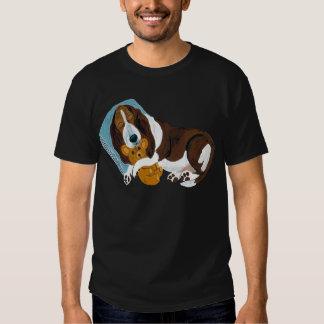 Basset Asleep With Teddy Tee Shirt