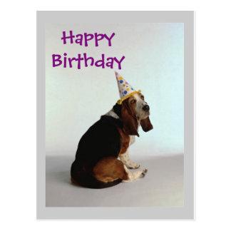 Basset Birthday Dog Postcard