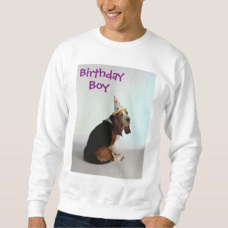Basset Birthday Dog Pullover Sweatshirts