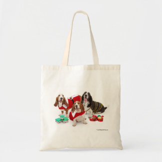 Basset Christmas bag