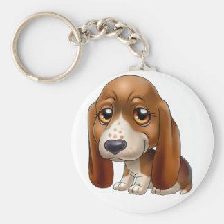 basset dog cartoon keychain