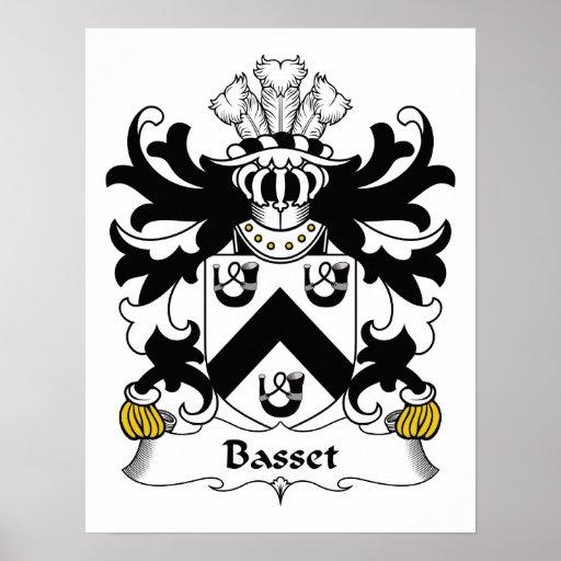 Basset Family Crest Print
