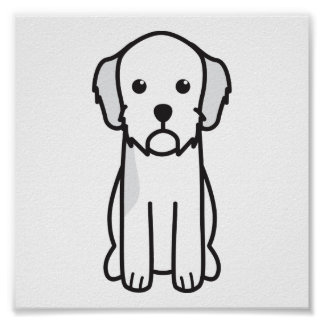 Basset Fauve de Bretagne Dog Cartoon Poster