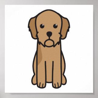 Basset Fauve de Bretagne Dog Cartoon Print