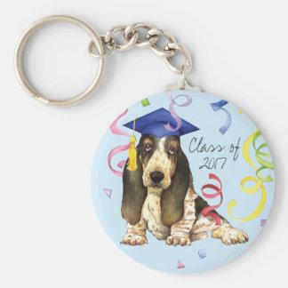 Basset Graduate Key Ring