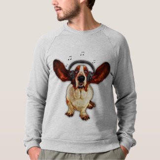 Basset Hound American Apparel Raglan Sweatshirt