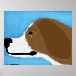 Basset Hound Art Poster Print