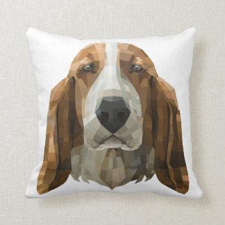 Basset Hound at Home Cushion