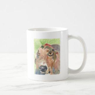 Basset Hound Basic White Mug