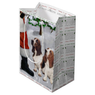 Basset Hound Believe Christmas Medium Gift Bag