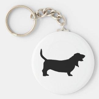 Basset Hound (black) Key Ring