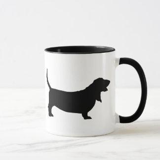 Basset Hound (black) Mug