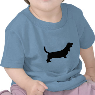 Basset Hound (black) T Shirt