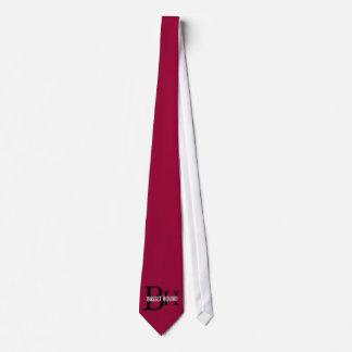Basset Hound Breed Monogram Design Tie