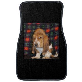 Basset hound car floor mats