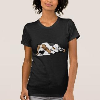 Basset Hound cartoon dog T-Shirt