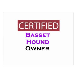 Basset Hound Certified Owner Postcard