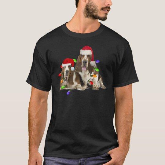 Basset Hound Christmas Apparel T-Shirt