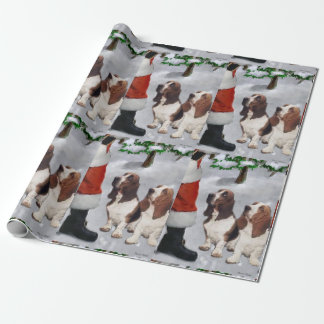 Basset Hound Christmas Wrapping Paper
