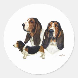 Basset Hound Classic Round Sticker