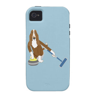 Basset Hound Curling iPhone 4 Covers