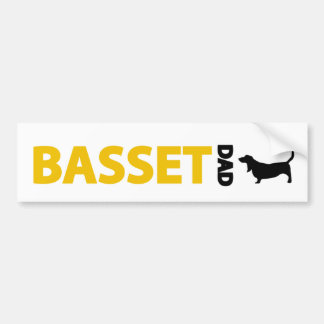 Basset Hound Dad Bumper Sticker