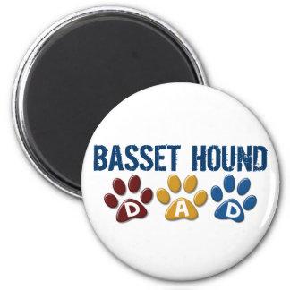 BASSET HOUND DAD Paw Print Magnets